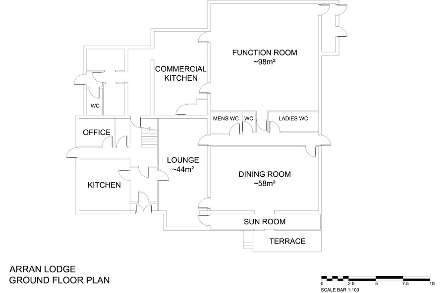 Arran Lodge Ground Floor Plan